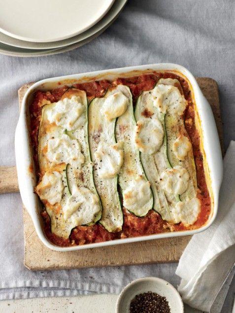 "Zucchini-Ribbon ""Lasagna"" -- low carb!"