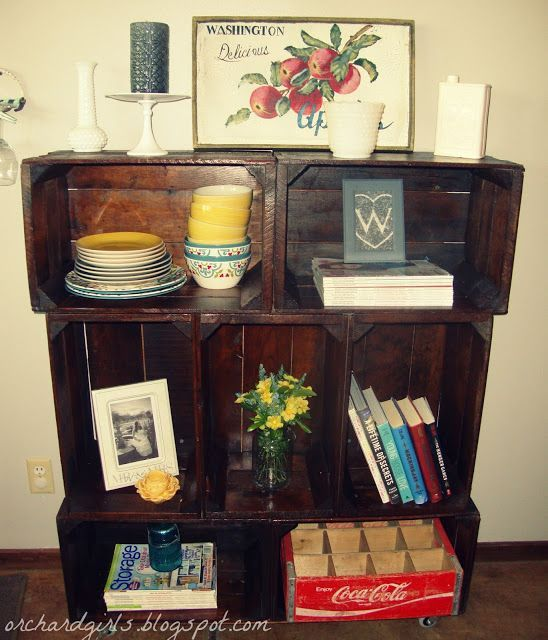 Pin by michelle palu on decorating with apple wooden for Diy apple boxes