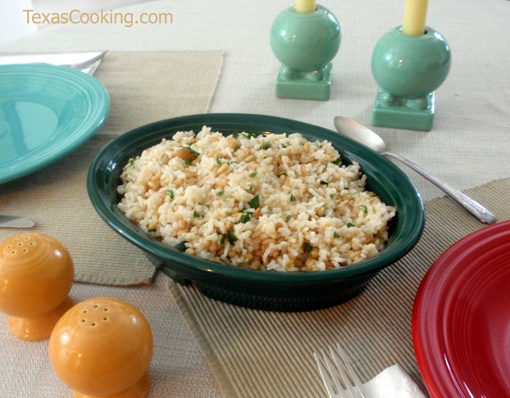 Delicious Rice with Garlic and Pine Nuts | Potatoes, rice, pasta, qui ...