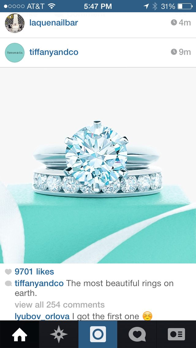 Beautiful simple Tiffany bridal set | My ring | Pinterest