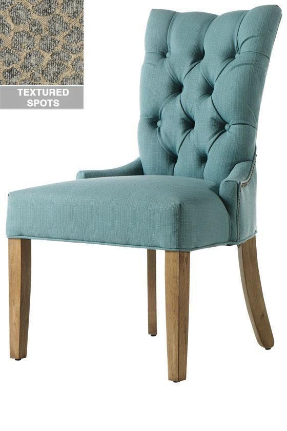 Custom Button Tufted Back Dining Chair Lisa J Pinterest