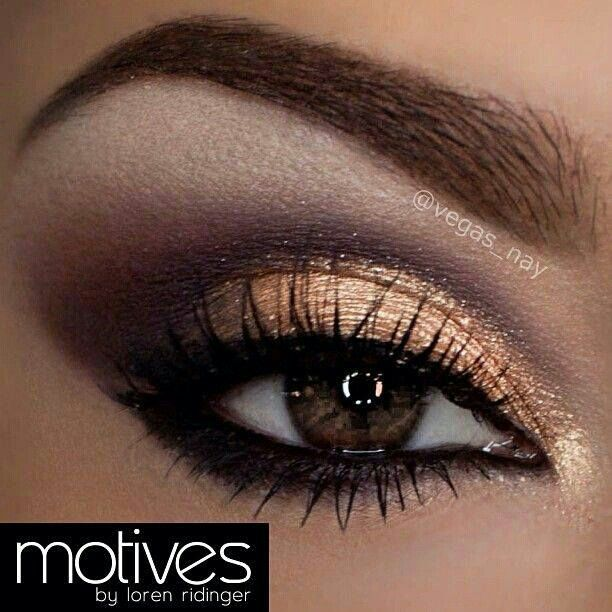 gold and purple makeup for brown eyes makeup pinterest