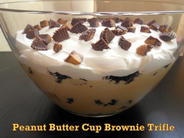 Peanut Butter Cup Brownie Trifle | Trifle | Pinterest