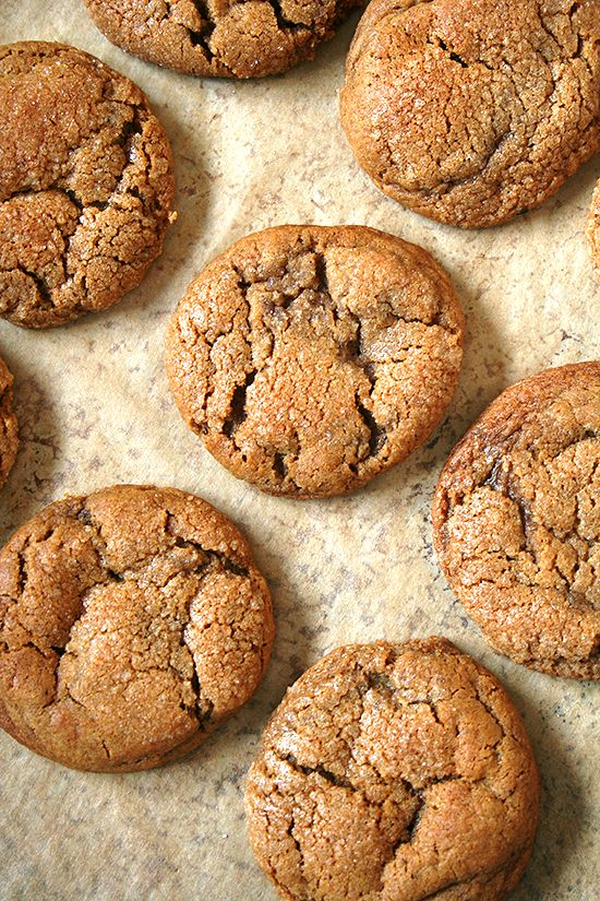 Molasses crinkles — perfect for the holidays.