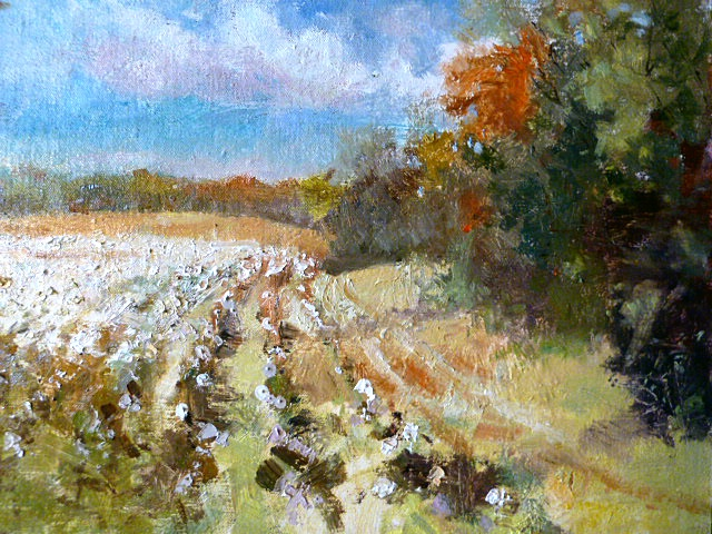 Cotton Field Painting | living room | Pinterest