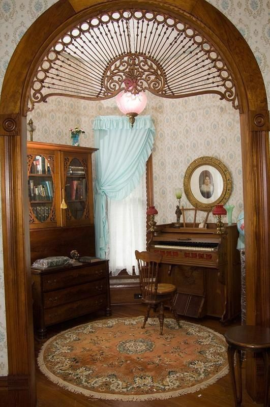 Most would call these small alcoves in homes awkward  but as piano    Queen Anne Architecture Interior