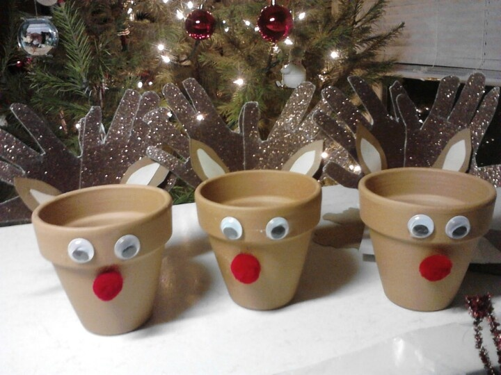 ... hand for antlers. Fill with candy, cookies or small pointsettia
