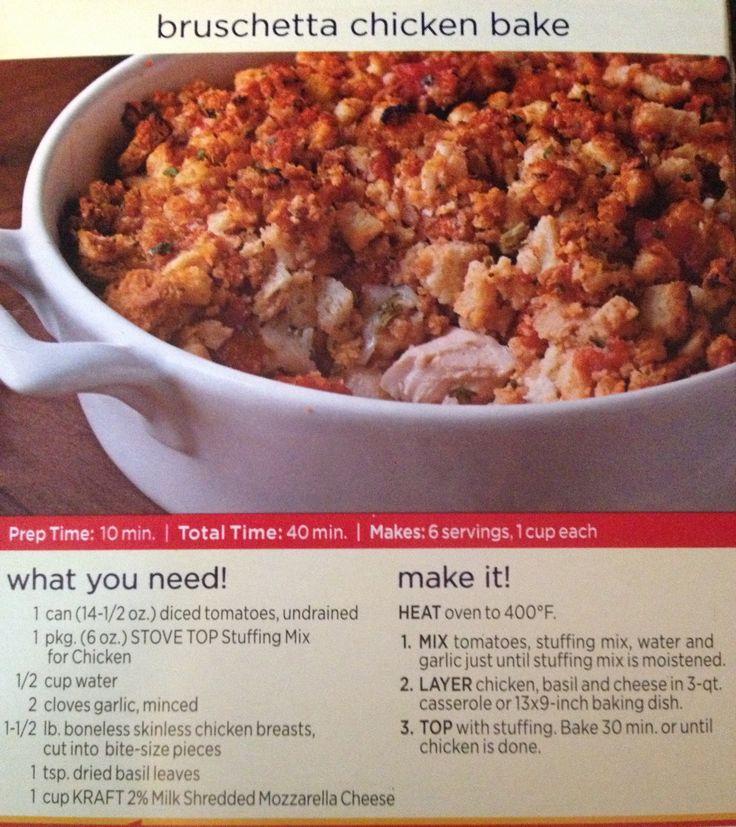 Bruschetta Chicken Bake. Making this tonight, smells delish! Can't ...