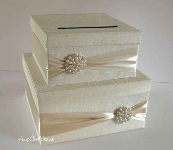 Wedding Gift Envelope Box Suggestions : Wedding Card Box Money Holder Gift Card Envelope Box Custom Made
