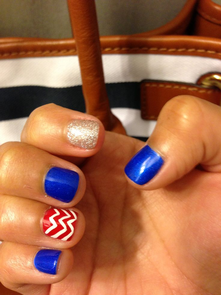 4th of July shellac nails ;) | nails | Pinterest