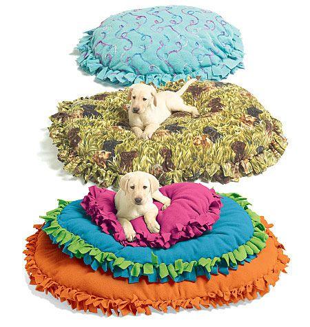 DIY No sew pet bed