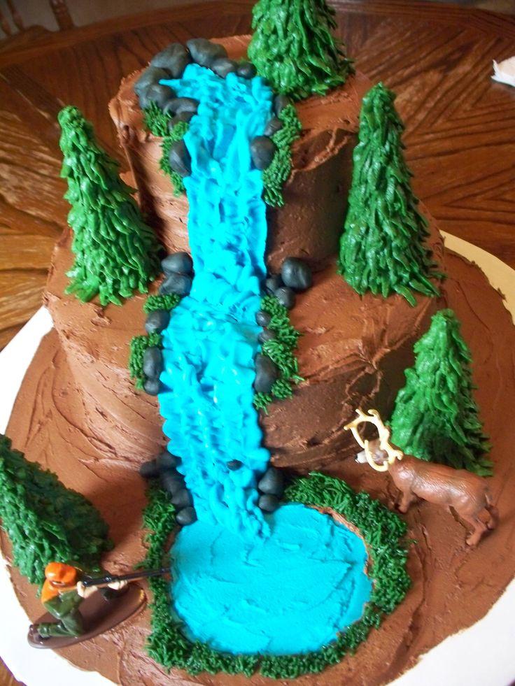 Moana Birthday Cake With Pretzel Decorations