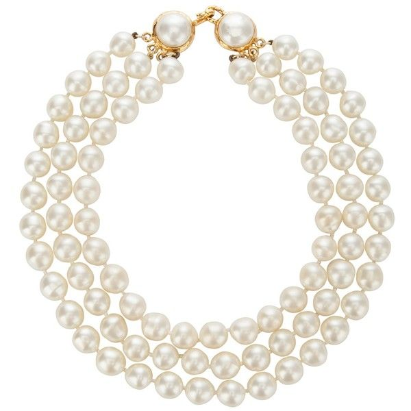 ALL ABOUT HONEYMOONS - Join our Facebook page!  https://www.facebook.com/AAHsf  CHANEL VINTAGE Chanel Pearl Necklace found on Polyvore