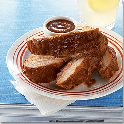 Smoked Baby Back Ribs with Cola Barbecue Sauce The one Tom makes from ...