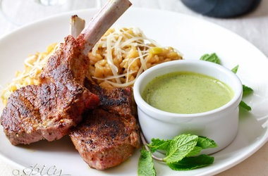 Moroccan-style Grilled Rack Of Lamb With A Creamy Tahini ...