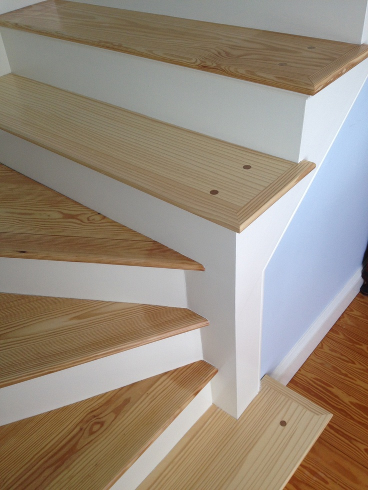 Stained Pine Stairs : Pine stairs  The Attic Space  Pinterest