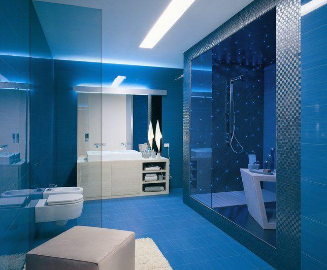 Salle De Bain Bleu Marine : Salle de bains Bleu