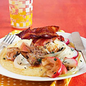 Chicken Thighs with Apples and Onions