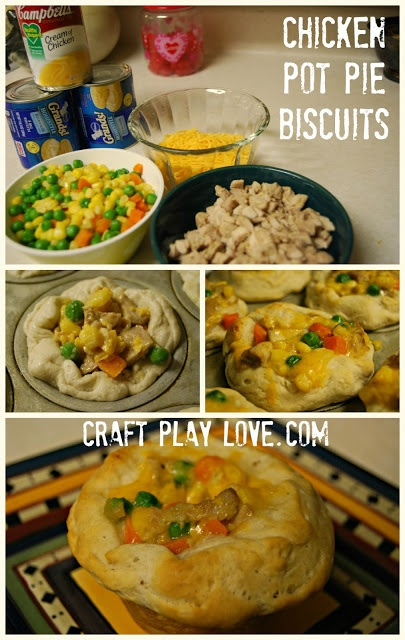 craft .. play .. love: chicken pot pie biscuits of ridiculousness