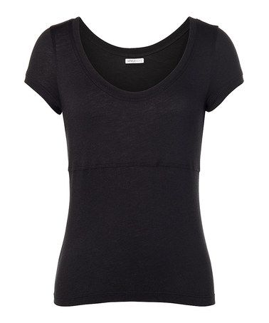 Take a look at this Black Broderick Tee by StyleMint on #zulily today!
