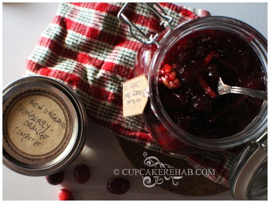 cranberry orange compote; made with maple syrup, walnuts, candied ...