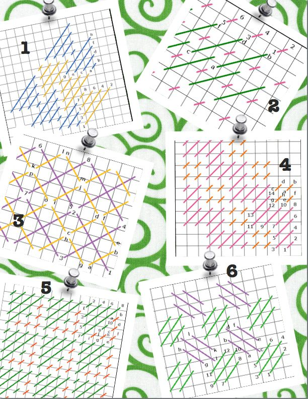 Needlepoint Stitch Sheets