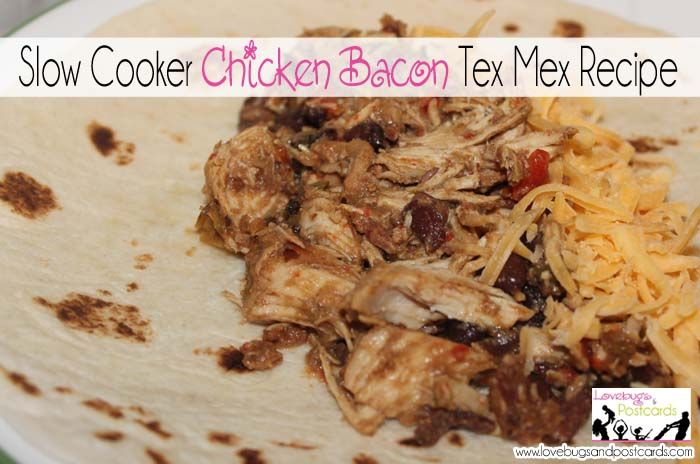 Slow Cooker Chicken Bacon Tex Mex Recipe #crockpot #slowcooker # ...