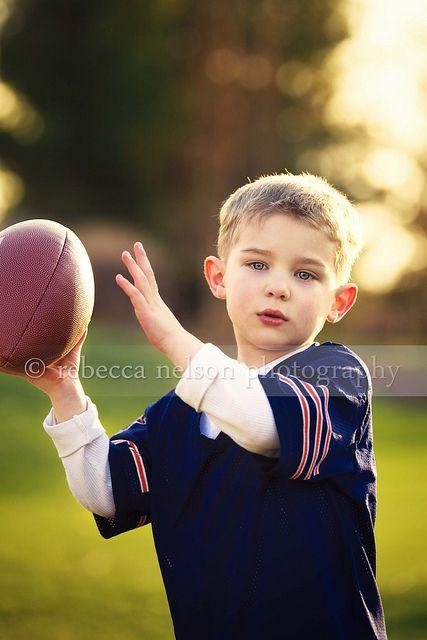 Jude teaching LJ how to throw a football like a pro (Crush)