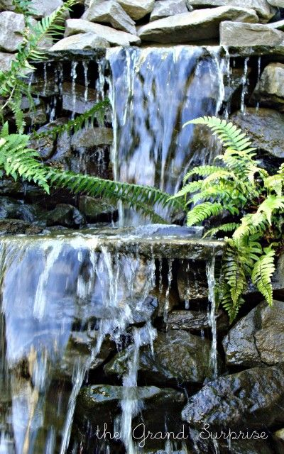 Backyard Waterfalls Diy : DIY Backyard Waterfall  Gardening  Pinterest