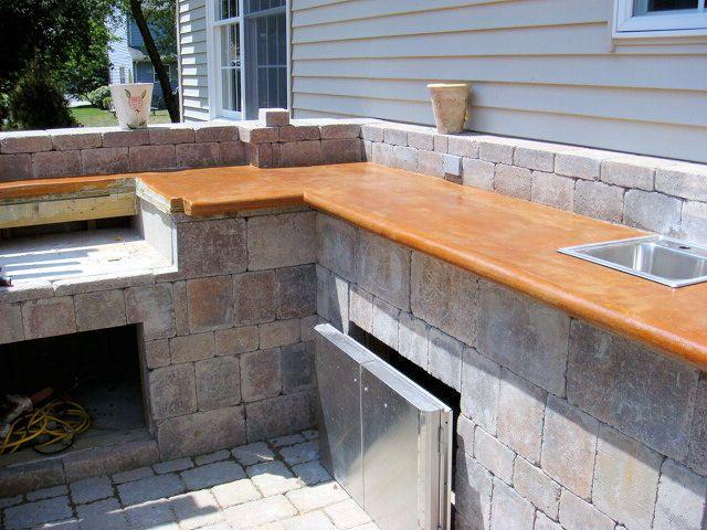 Concrete Countertop Edges : Concrete Countertop - bull-nose edge. Back Yard Pinterest