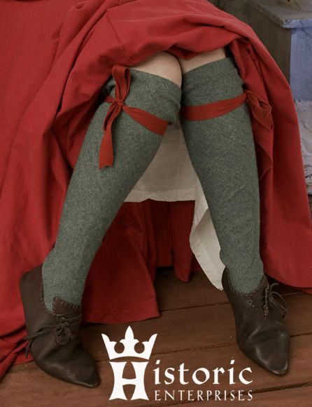 Stockings, Linen- Secondary- with garters under the knee... Is that