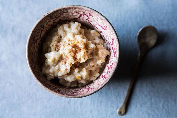 Vegan Kale and White Bean Korma + Coconut Milk Rice Pudding on Food52