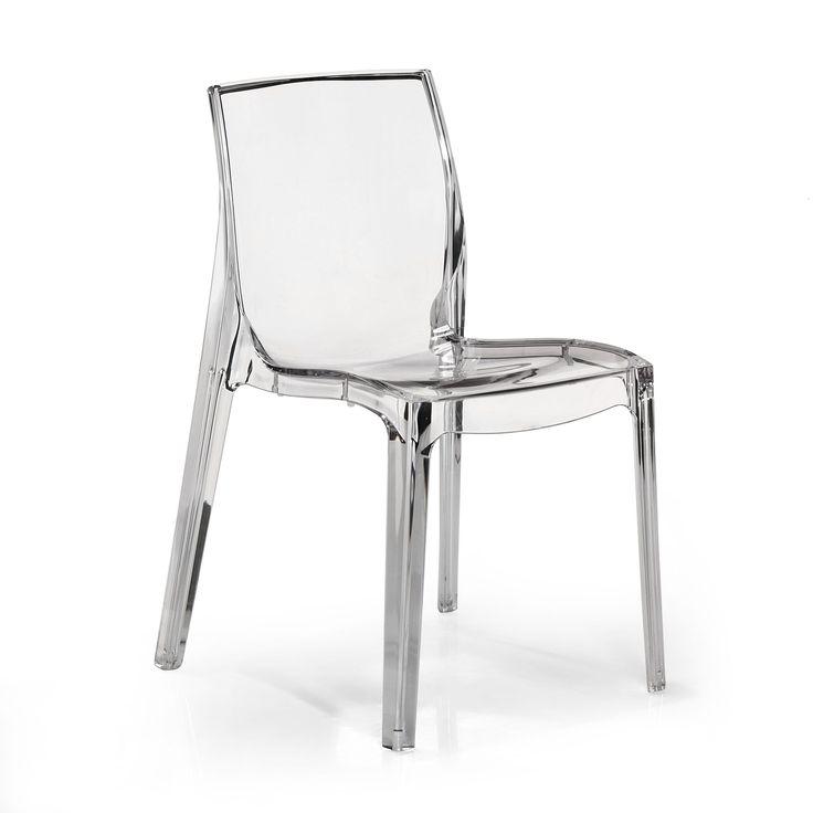 Chaise design transparente Becca - Tables et chaises - Alinea
