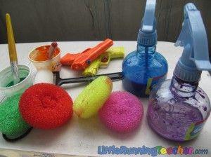 spray bottle art