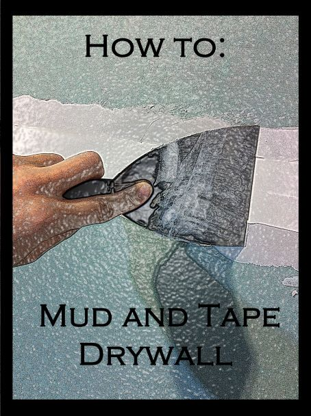 Mud and tape drywall patch
