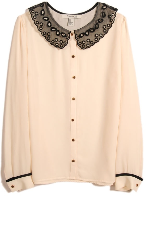 Forever 21 SS13 Embellished Collar Blouse