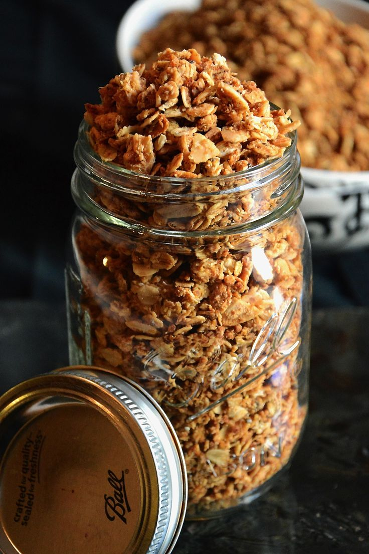 Maple Coconut Butter Quinoa Granola - Slightly sweet and crunchy granola with hints of coconut and a healthy twist from quinoa!