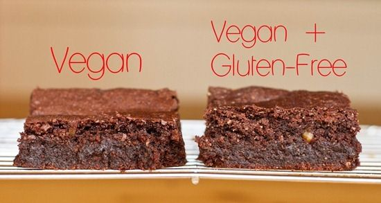 Vegan Brownies: Two Ways...regular vegan & gluten free vegan (walnuts ...
