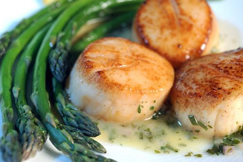 Seared Scallops With Classic Herb Butter Sauce
