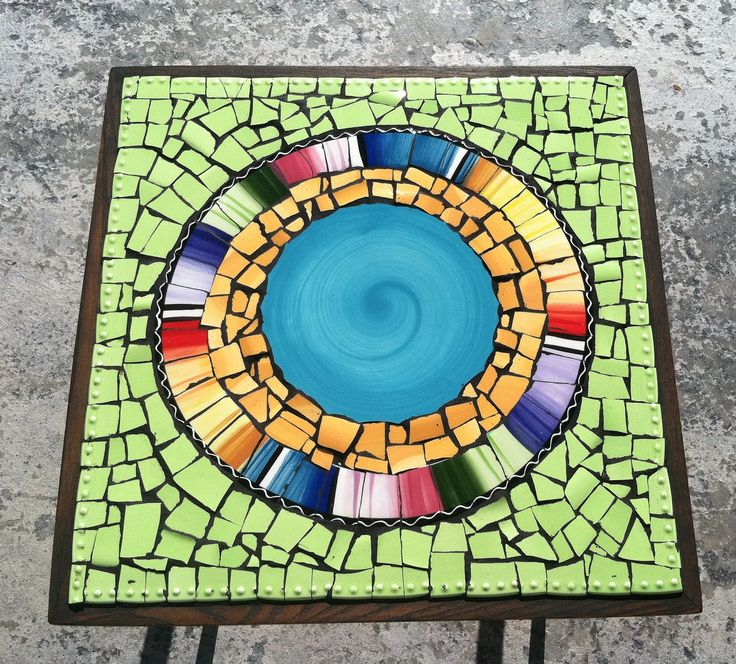 Mosaic Tile Table Kit do Mosaics Mosaic Table Kits Tile Table Kits Artist in California