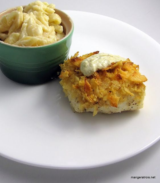 Potato crusted halibut! Yes, please! | Deliciousness | Pinterest