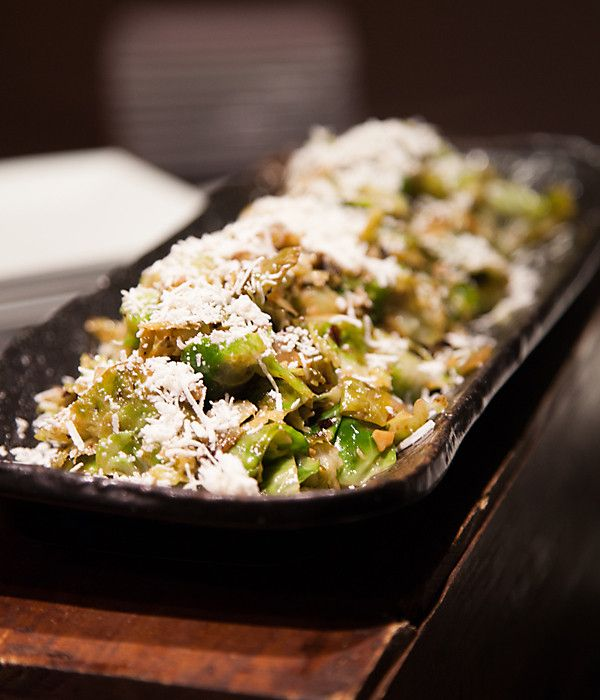 So utterly delicious: Fluffed Brussels sprouts with ricotta salata ...