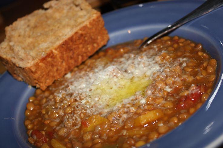 lentil soup | Vegetarian Recipes ♡ | Pinterest