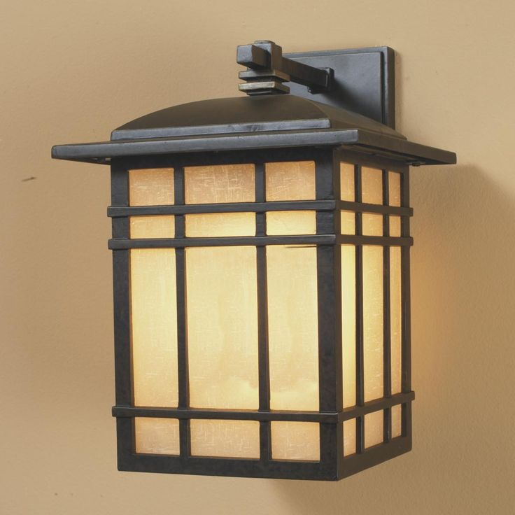 229 energy star bronze craftsman mission outdoor light