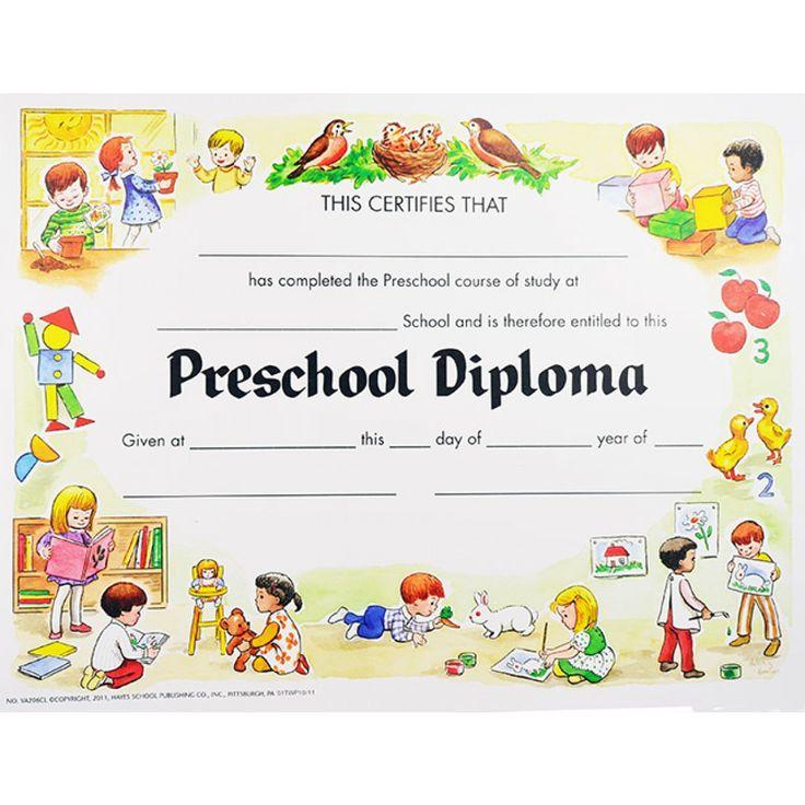 11 Best Images Of Free Printable Kindergarten Graduation Diploma - Printable Preschool Diplomas