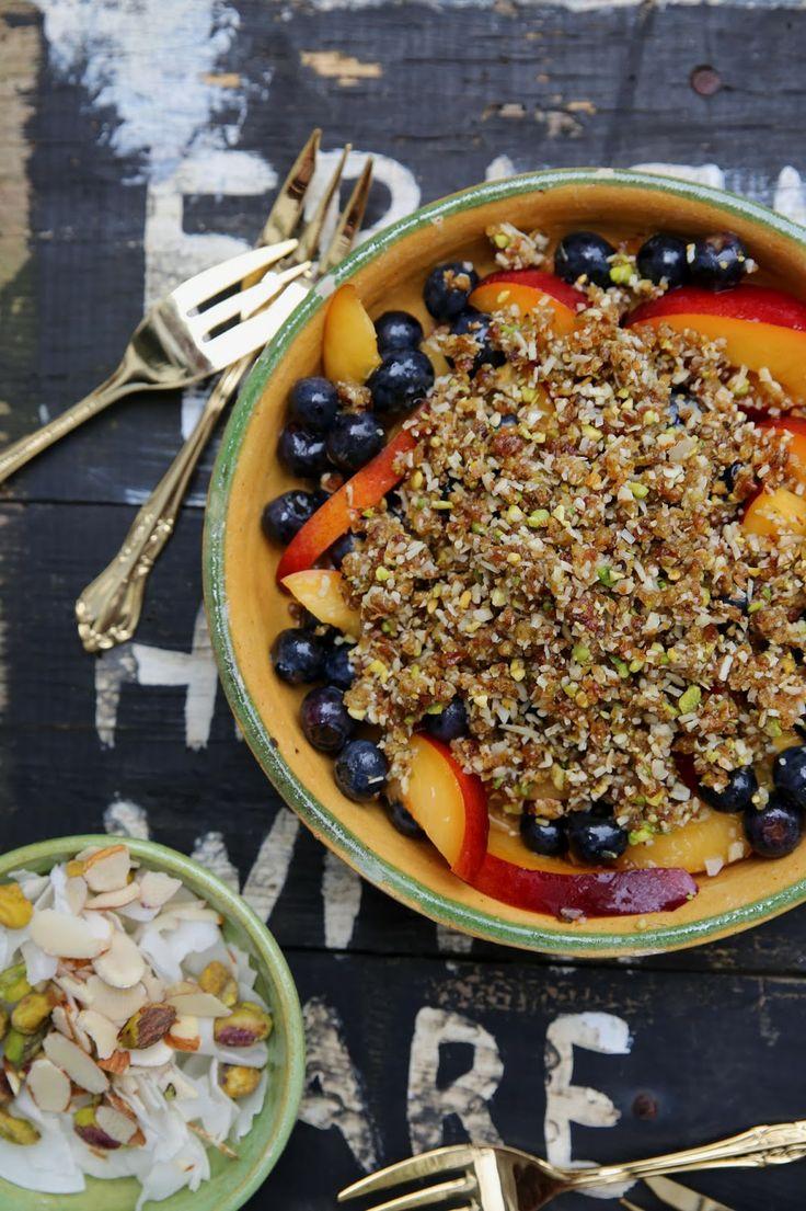 petite kitchen gluten free nectarine amp blueberry crumble with date ...