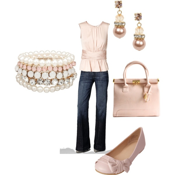 Pink Pearls, created by charmiecm  I love pink!!!!  This is my style.