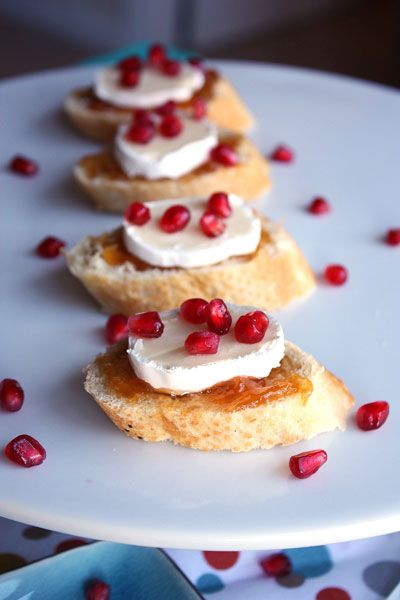 Apricot Brie Crostini from http://www.shemakesandbakes.com/1/post/2013 ...