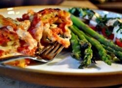 lasagna rolls w/ spinach and prosciutto