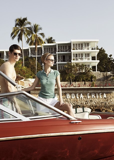 forever retro chic Acapulco (Boca Chica Hotel) by Pasquale Abbattista and styled by Kathrin Seidel featuring models Sophie Holmes & Lucien Thomkins for Elle Germany May 2011.
